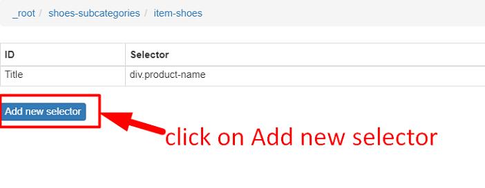 Click New Selector