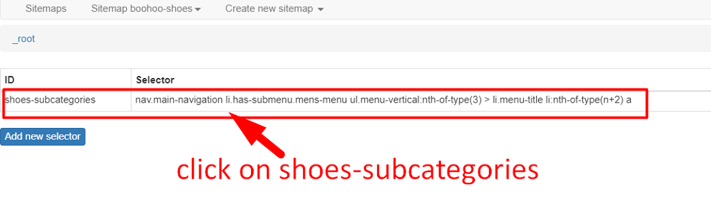 Shoes Subcategories